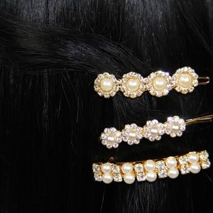 Accessories - Pearl with Jewel Hair Accesory